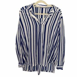 & Other Stories Women's Striped High Low Blouse
